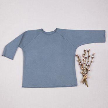 Tričko šedá tmavá dlhý rukáv - GOTS