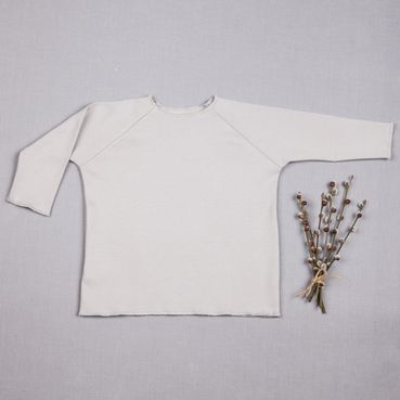 Tričko šedé dlhý rukáv - GOTS