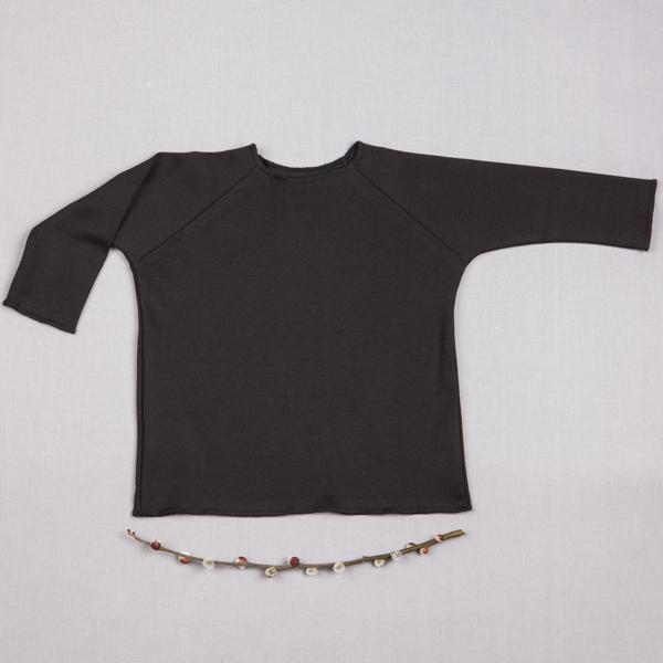 db79db084229 Tričko čierne dlhý rukáv - GOTS zväčšiť obrázok
